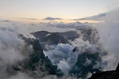 Mooie wolken en lichten Royalty-vrije Stock Afbeelding