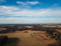 Mooie Wolken over de Landelijke Zuidelijke Provincie van York in Nieuwe Vrijheid, royalty-vrije stock fotografie