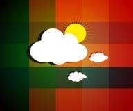 Mooie Wolkenbeelden op heldere zonnige dagachtergrond met textuur. Stock Afbeelding