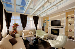 Mooie woonkamer stock afbeelding