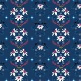 Mooie Zacht en zacht van bloem naadloos patroon in regelmatig herhalingsontwerp voor manier, behang, stof, Web en alle drukken royalty-vrije illustratie