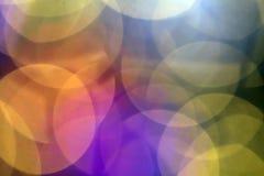 Mooie zachte veelkleurige bokehachtergrond Het klopje van Defocusedlichten Stock Foto