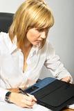 Mooie Zaken Dame Writing stock fotografie