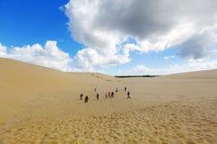 Mooie zandduinen, Australië. Stock Fotografie