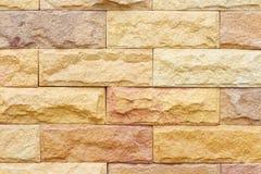 Mooie zandsteenbakstenen muur Stock Fotografie
