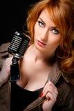 Mooie zanger Royalty-vrije Stock Fotografie