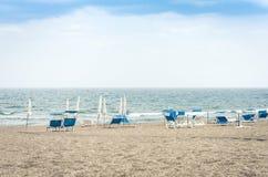 Mooie zeekust v??r onweersbui in Catani?, Sicili?, Itali? royalty-vrije stock foto