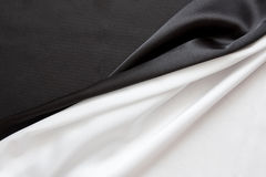 Mooie zijdeachtige briljante zwart-wit royalty-vrije stock fotografie