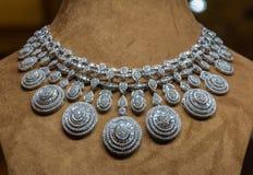 Mooie zilveren-gekleurde halsband royalty-vrije stock afbeeldingen