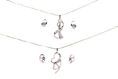 Mooie Zilveren Juwelen Royalty-vrije Stock Foto
