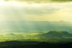 Mooie zonnestraal Stock Afbeelding