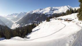 Mooie zonnige dag en de sneeuw in Italiaans Zwitserland lucht Stock Afbeelding