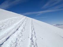 Mooie zonnige dag en de sneeuw in Italiaans Zwitserland lucht Stock Foto's