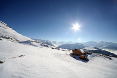 Mooie zonnige dag in Franse alpen Royalty-vrije Stock Foto's