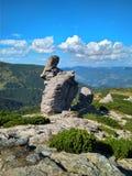 Mooie zonnige de zomerdag in de bergen royalty-vrije stock foto's