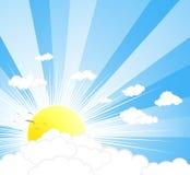 Mooie zonnige hemelachtergrond Stock Fotografie