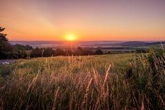 Mooie zonnige ochtend royalty-vrije stock afbeelding