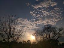 Mooie zonsondergang, ??n van aardwonder royalty-vrije stock foto