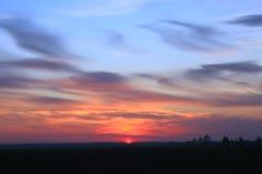 Mooie zonsondergang royalty-vrije stock foto's