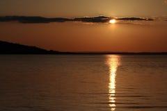 Mooie zonsondergang royalty-vrije stock afbeelding