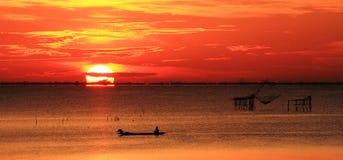 Mooie Zonsondergang stock fotografie