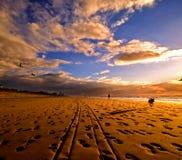Mooie zonsondergang Royalty-vrije Stock Fotografie