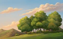 Mooie Zonsondergang Stock Illustratie