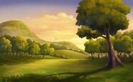 Mooie Zonsondergang Royalty-vrije Illustratie