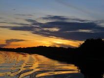 Mooie Zonsondergang Royalty-vrije Stock Afbeeldingen