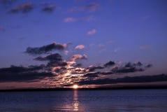 Mooie zonsondergang bij joensuu Finland Royalty-vrije Stock Afbeelding