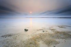 Mooie zonsondergang en zonsopgang Stock Afbeeldingen
