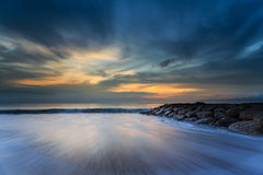 Mooie zonsondergang en zonsopgang Royalty-vrije Stock Foto's