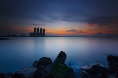 Mooie zonsondergang en zonsopgang Royalty-vrije Stock Foto