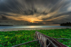 Mooie zonsondergang en zonsopgang Royalty-vrije Stock Fotografie