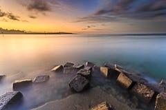 Mooie zonsondergang en zonsopgang Royalty-vrije Stock Afbeelding