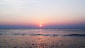 Mooie zonsondergang in Kerala Stock Afbeeldingen