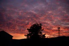 Mooie zonsondergang in Mostar, Bosnië-Herzegovina stock foto
