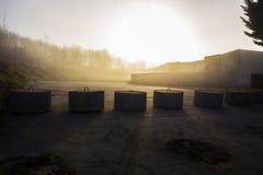 Mooie zonsondergang in Normandië stock foto's