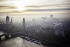 Mooie zonsondergang over Big Ben in Londen Stock Foto