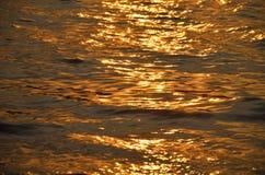 Mooie zonsondergang over het overzees Royalty-vrije Stock Afbeelding