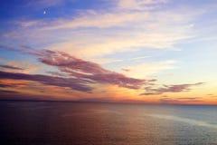 Mooie zonsondergang over Oostzee Royalty-vrije Stock Foto's
