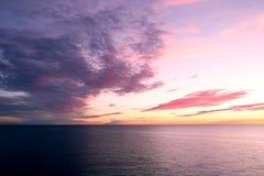 Mooie zonsondergang over Oostzee Royalty-vrije Stock Fotografie