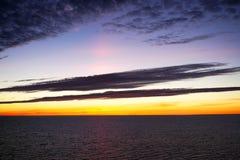 Mooie zonsondergang over Oostzee Royalty-vrije Stock Foto