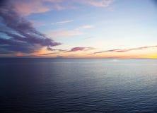 Mooie zonsondergang over Oostzee Stock Foto's