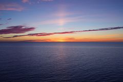 Mooie zonsondergang over Oostzee Stock Fotografie