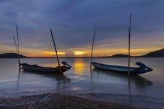 Mooie zonsondergang in Thailand Stock Foto