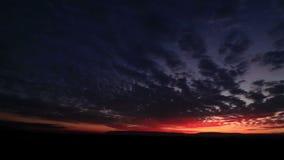 Mooie zonsondergang timelapse stock footage
