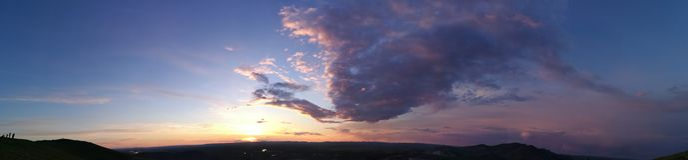 Mooie zonsonderganggloed Royalty-vrije Stock Foto's