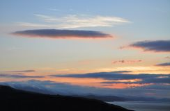 Mooie zonsonderganghemel stock afbeelding