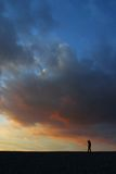Mooie zonsonderganghemel Royalty-vrije Stock Foto's